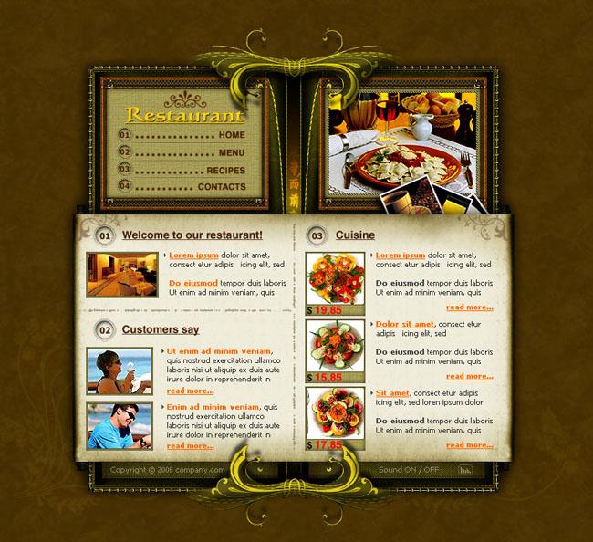 關鍵詞:商務網頁美食網頁灰色背景設計效果內容頁