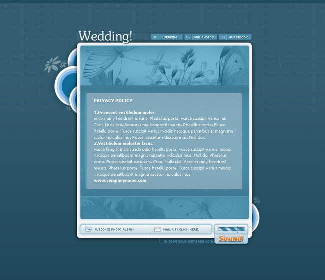 个人婚庆网页模板设计