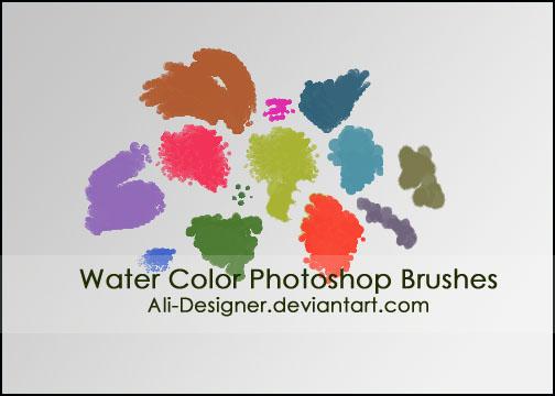 水彩效果笔刷 Photoshop笔刷 PS素材