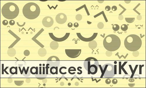 可爱表情笔刷 - 爱图网设计图片素材下载