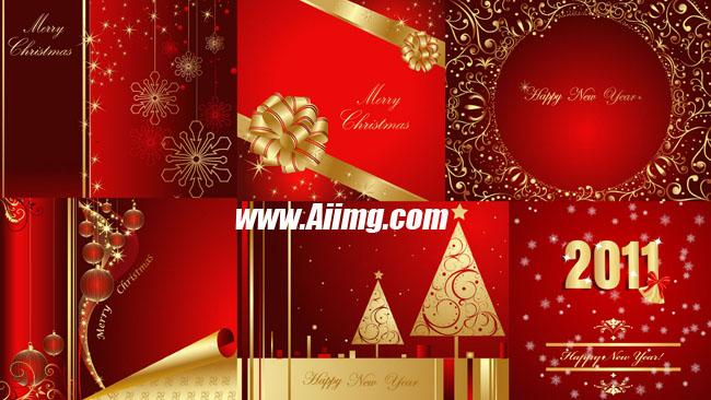 2011新年与圣诞背景矢量素材