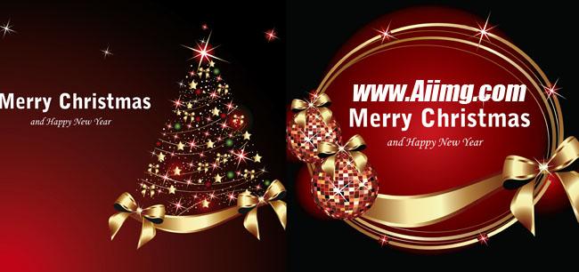 喜庆圣诞节主题矢量素材
