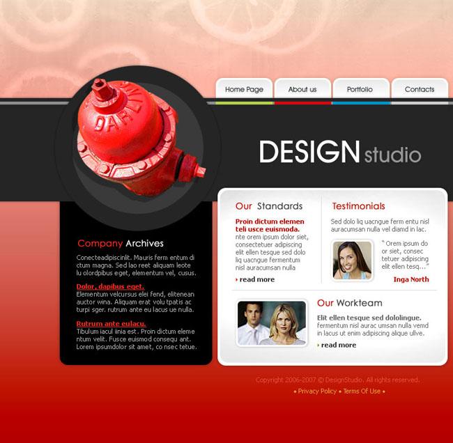 色彩创意网页模板 - 爱图网设计图片素材下载
