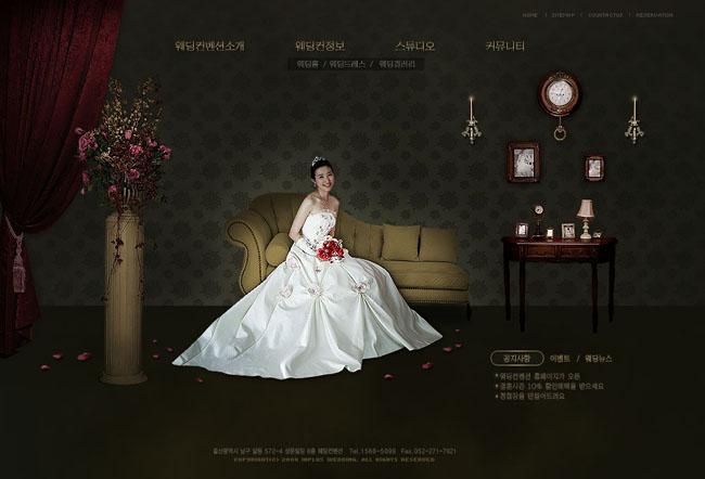 婚纱设计网页模板 - 爱图网设计图片素材下载