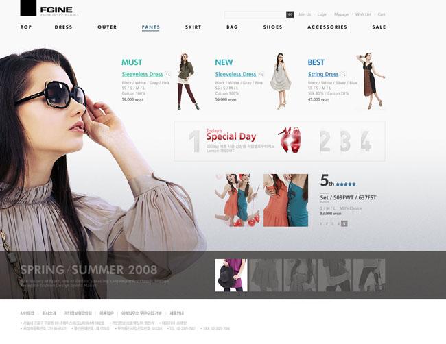 服装设计网页模板素材
