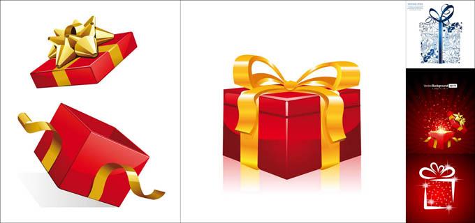 圣诞礼物矢量素材