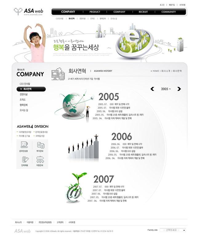 韩国可爱女孩网页模板