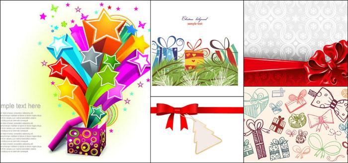 圣诞节礼品盒设计矢量素材