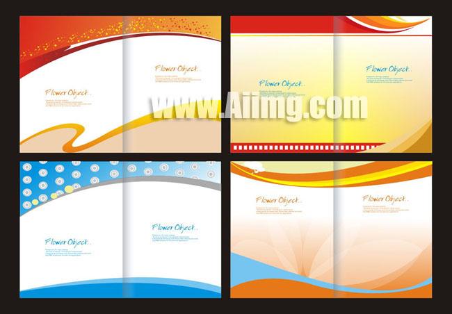 时尚企业宣传册矢量素材 广告公司企业宣传册设计矢量素材 作业本封面
