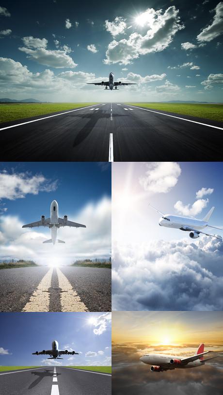 飞机起飞高清图片素材