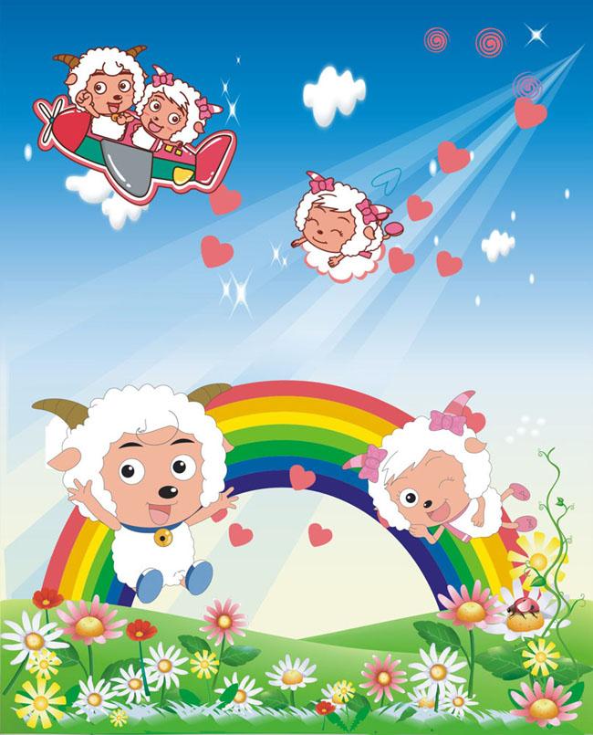 喜羊羊幼儿园背景图片