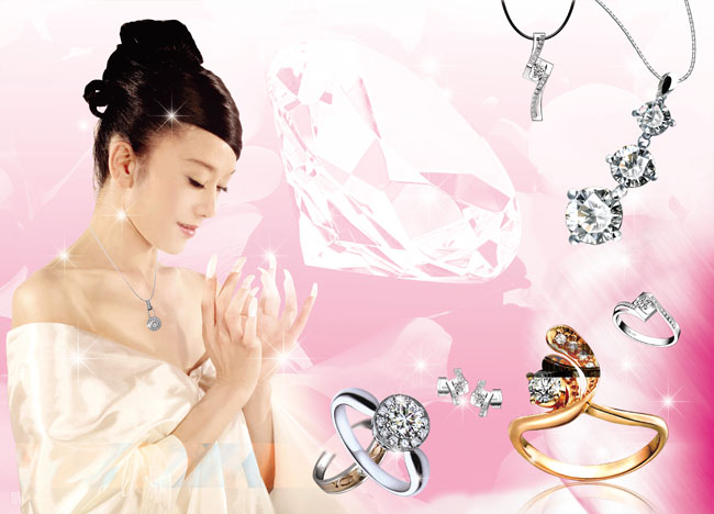 美女与珠宝图片素材