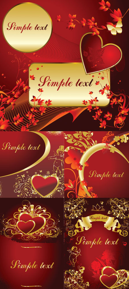 关键字: 情人节金色经典高贵奢华礼物爱心丘比特蝴蝶花朵矢量素材