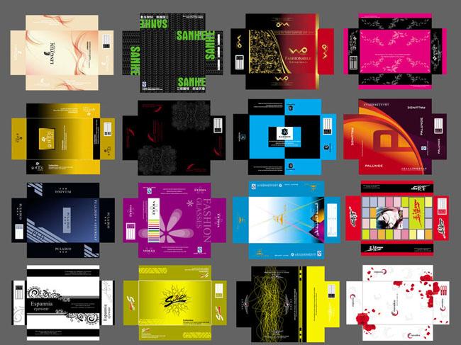 眼镜包装包装盒子包装设计盒子展开图大盒