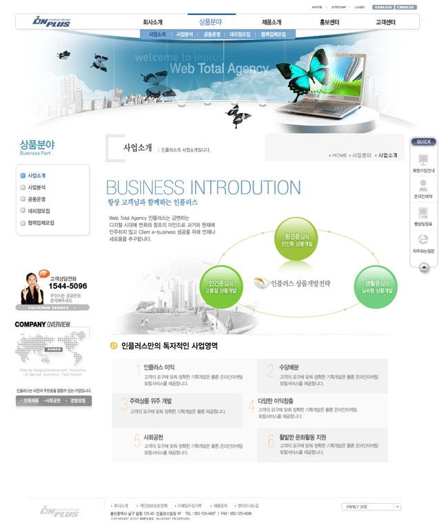 未来科技网页模板设计图片