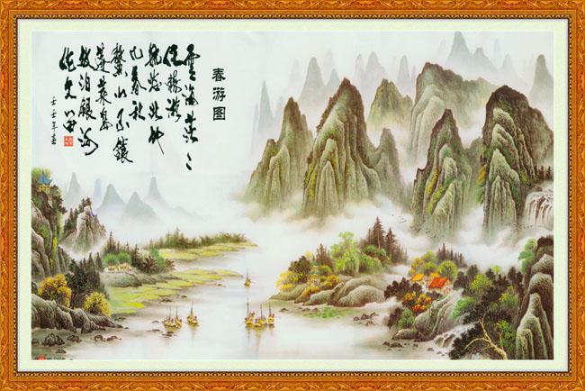景色风景中国画图片