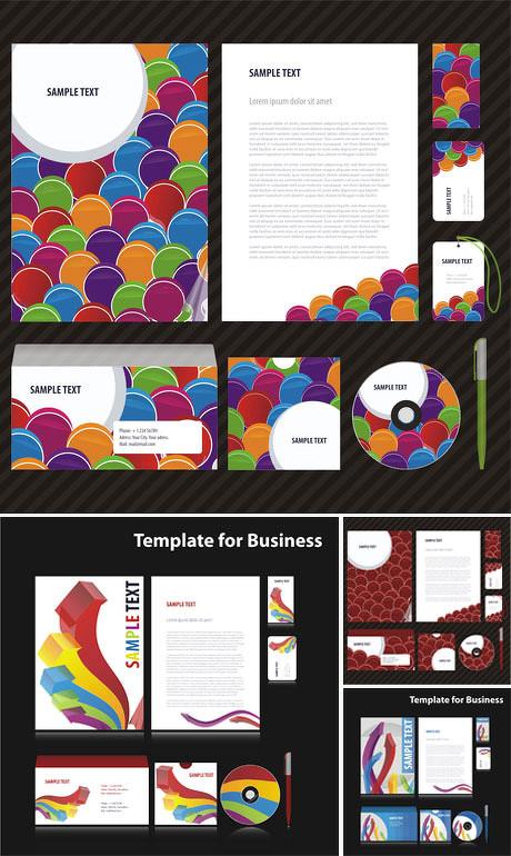 时尚酒店vi设计矢量素材 光盘画册包装设计矢量素材 信封包装企业标识