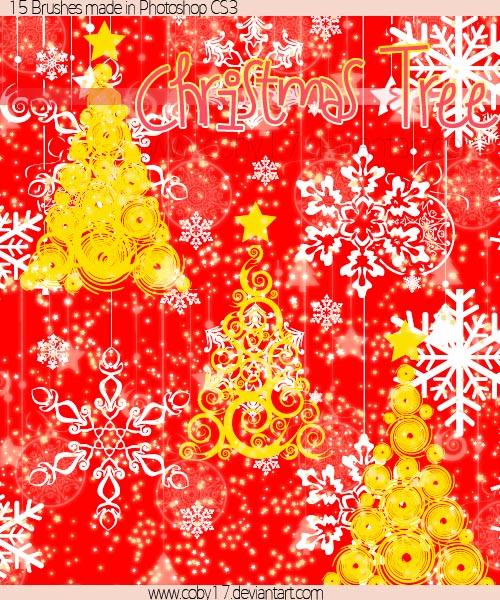 圣诞树笔刷(christmas tree brushes)