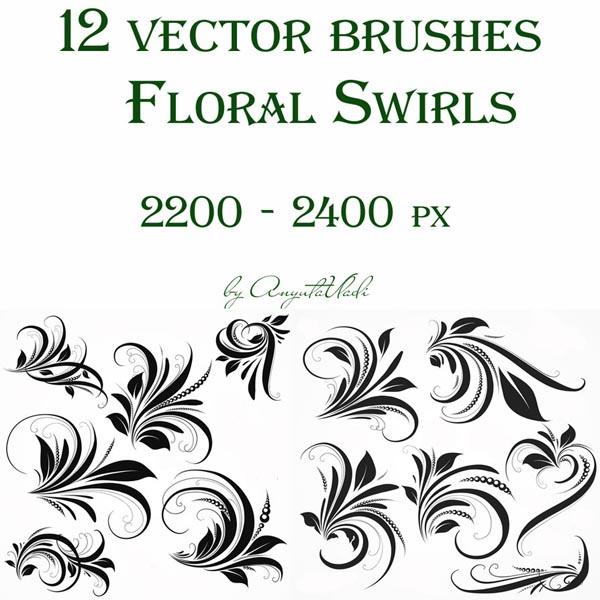水幕水珠ps笔刷素材 蒙版相框笔刷 花藤装饰边框笔刷 花边花纹笔刷