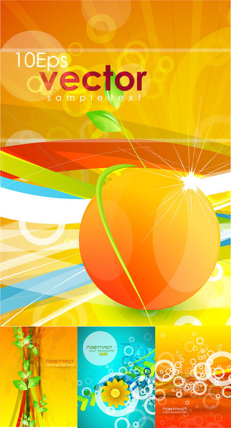 橙色活动会议背景设计矢量素材 冬季底纹横幅矢量素材 卡通人物漫画