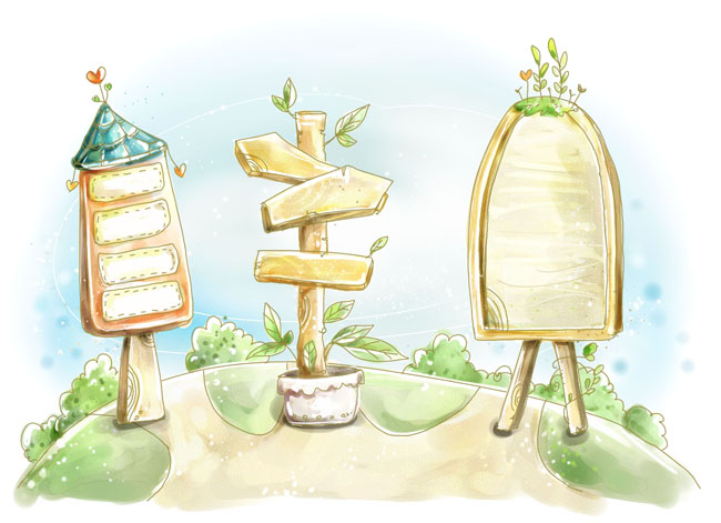 关键字: 淡雅花纹水彩画植物花朵树指示牌卡通儿童分层素材psd素材