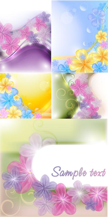 淡雅花纹元素矢量素材 - 爱图网设计图片素材下载