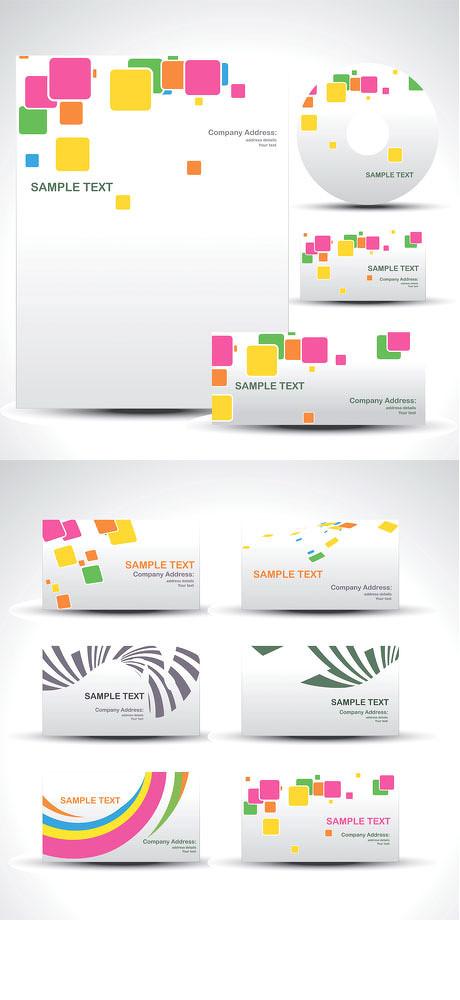 简洁vi设计矢量素材 商业vi模板设计矢量素材 房地产vi设计方案矢量