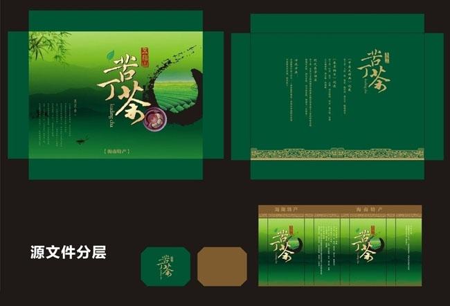 中秋月餅包裝盒效果矢量素材 傳統茶葉包裝盒設計矢量素材 龍年禮盒