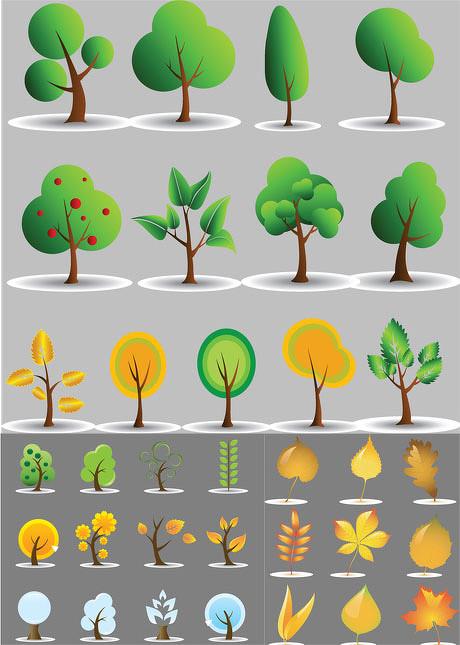 可爱植物矢量素材