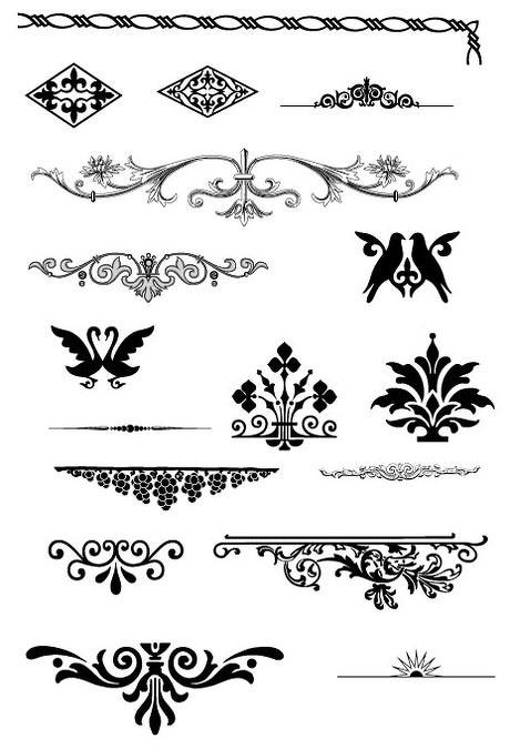 古典花纹边框相框矢量素材 刻绘花纹矢量素材 简约欧式花纹矢量素材