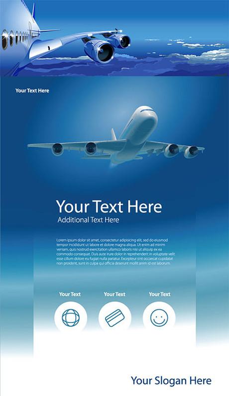 设计矢量素材素材矢量平面设计3d模板飞机