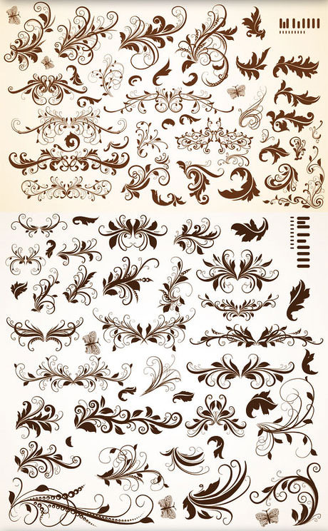 欧式古典装饰花纹边框矢量素材