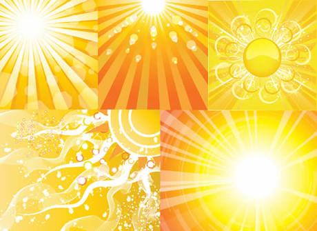 背景矢量素材  关键字: 太阳光芒光束矢量素材免费素材黄色光波光线