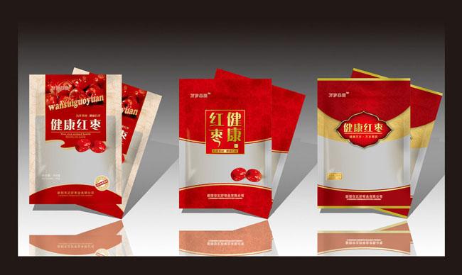 紅棗包裝設計紅棗包裝健康紅棗花紋食品包裝袋包裝