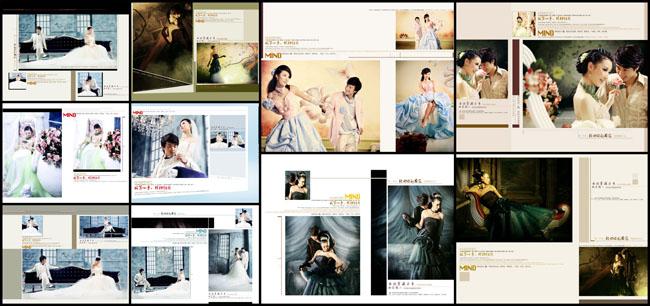 爱是你我婚纱摄影模板psd素材 全世界的思念情侣写真模板 一生幸福醉