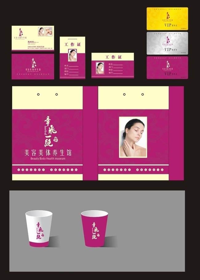 关键字: 美容美体名片手提袋化妆品vi设计应用设计贵宾卡spa工作证