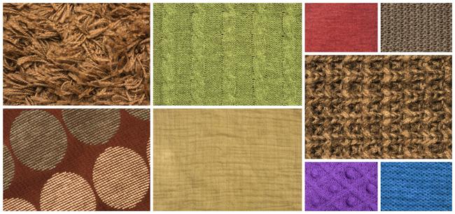 彩色织物花样纹理图片素材