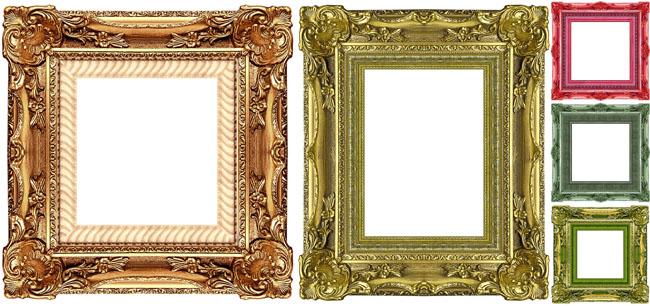 欧式木质相框|欧式婚纱相框素材|豪华欧式相框
