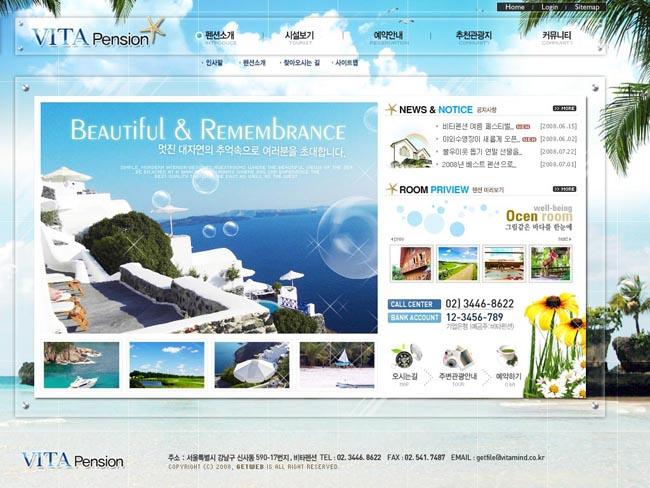 关键词:旅游网页风格风景版面设计内容页按钮最终页