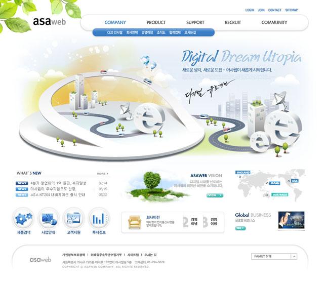 关键字: 韩国网页商业网站设计版面内容页按钮最终页结果页网页模板