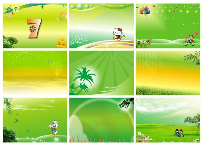 树树叶绿色矢量图矢量图动物小动物梦幻底色广告设计矢量cdr矢量素材