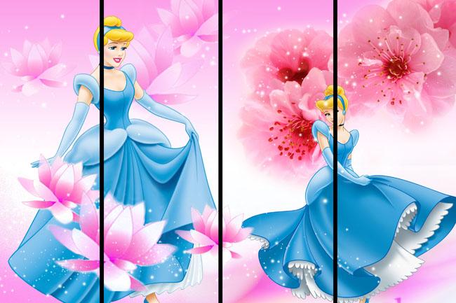 移门白雪公主背景图案psd素材图片