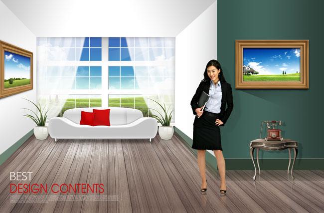 简装室内装修设计psd素材