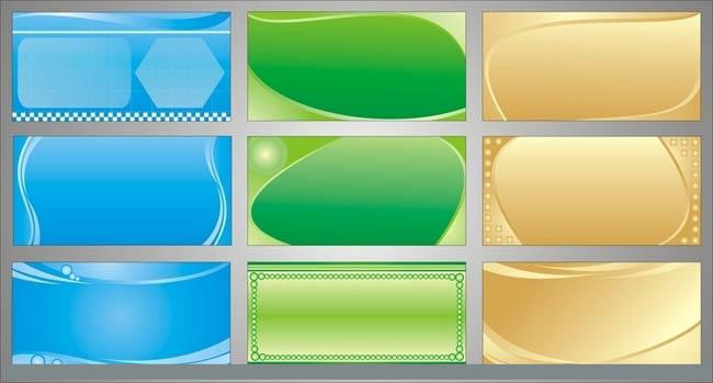 黄色简洁风格展板模板矢量素材