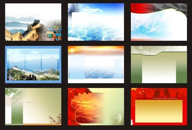 简洁图案展板背景矢量素材 - 爱图网设计图片素材下载