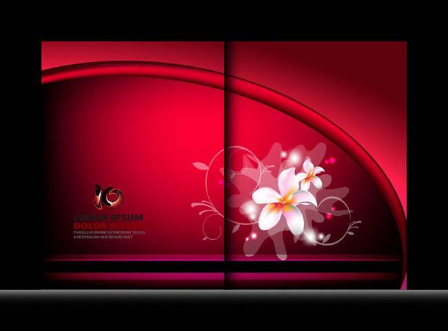 红色招商画册封面设计矢量素材  关键字: 画册(红色历程画册)红色革命