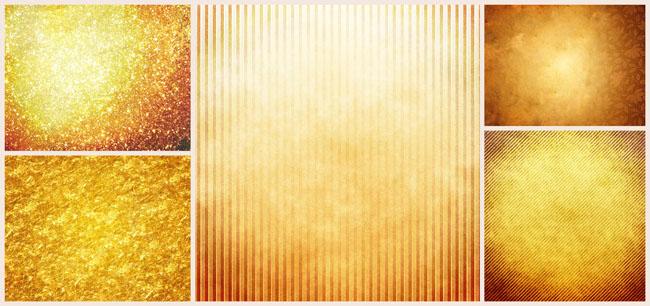 金色质感花纹边框psd分层素材