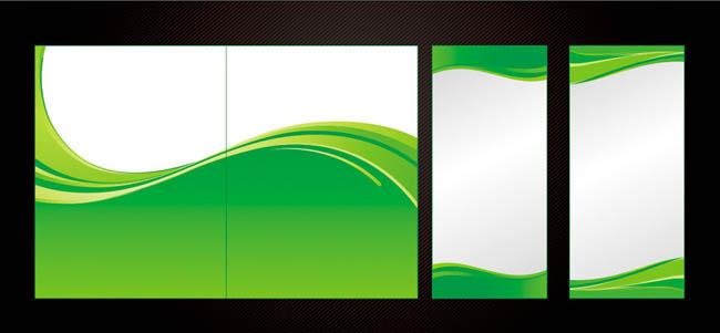 时尚绿白底色画册背景矢量素材图片