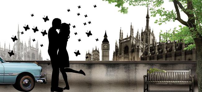 城堡情侣海报广告设计模板 - 爱图网设计图片素材下载