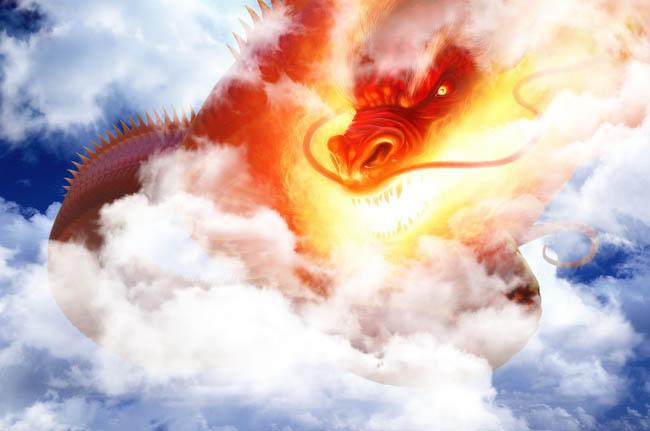 飞龙在天龙龙头龙图中国龙